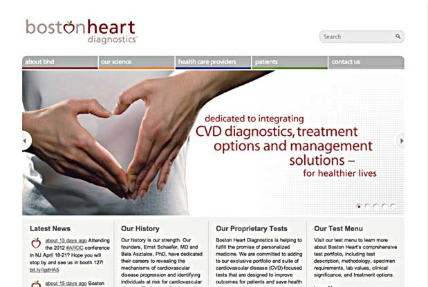 Boston Heart Website Screenshot