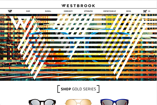 Westbrook Frames Website Screenshot